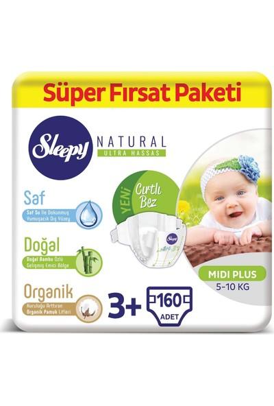 Sleepy Natural Bebek Bezi 3+ Numara Midi Plus Süper Fırsat Paketi 5 - 10 kg