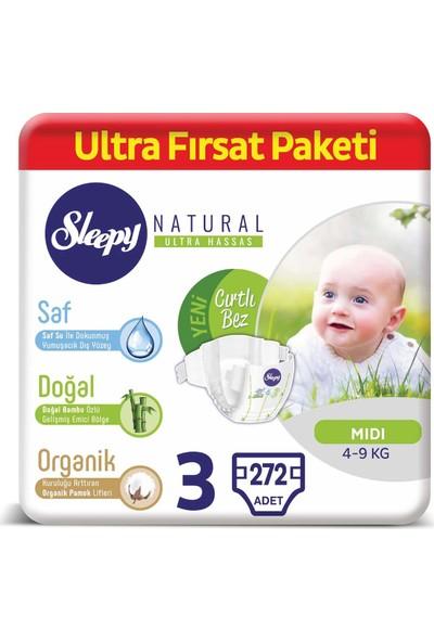 Sleepy Natural Bebek Bezi 3 Numara Midi Ultra Fırsat Paketi 4 - 9 kg