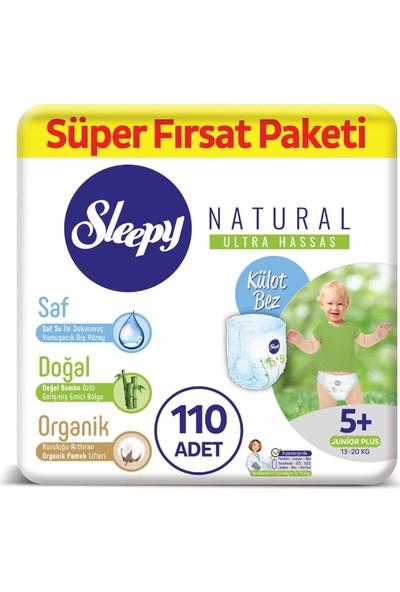 Sleepy Natural Külot Bez 5+ Numara Junior Plus Süper Fırsat Paketi 13 - 20 kg