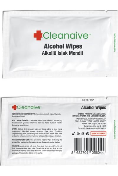 Cleanaive Alkollü Islak Mendil - (1000 Mendil)