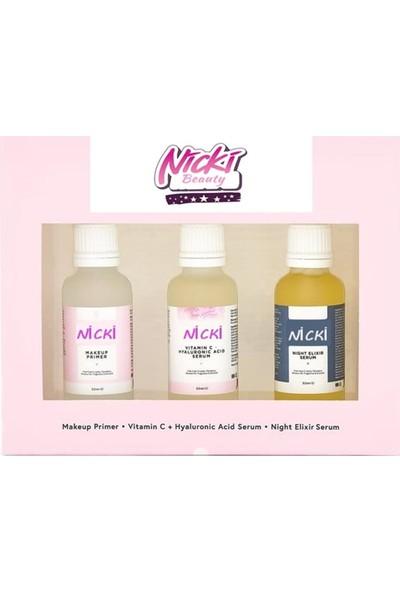 Nicki Gece Serumu + Hyaluronic Acid Serum + Makyaj Bazı