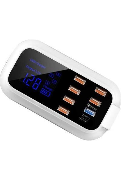Paleon Doolike Çoklu USB 8 Port Şarj Doldurma Hızlı Şarj Adaptörü