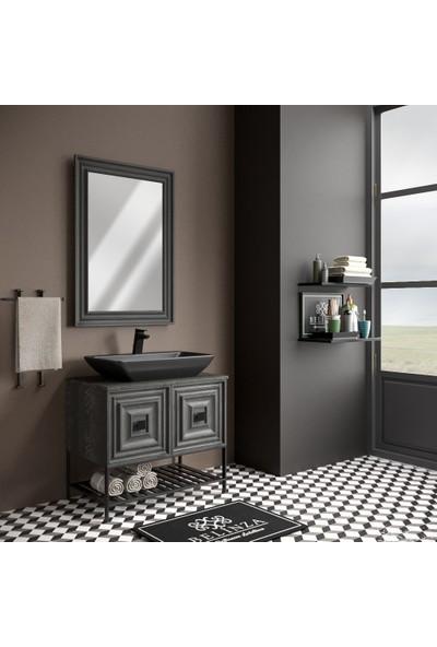 Belinza Rustica Banyo Dolabı Takımı 80 cm