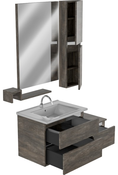 Belinza Spets Banyo Dolabı Takımı 105 cm