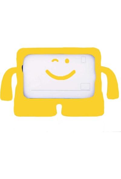Ceplab Samsung Galaxy Tab 3 Lite T-110 T113 Kılıf Emoji Standlı Silikon Tablet Kılıfı+Dokunmatik Kalem Hediye