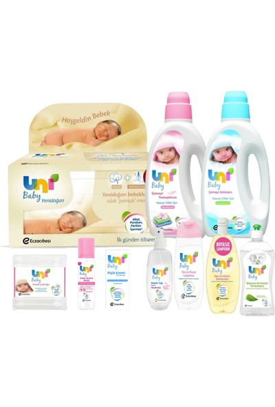 Uni Baby Aylık Bebek Bakım Paketi - 10'lu Set