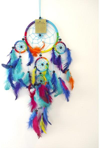 Arte Casero Düş Kapanı Rüya Kapanı Dream Catcher 12cm Renkli