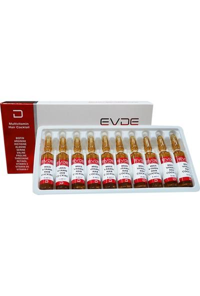 Evde Aesthetic Multi Vitamin Hair Cocktail 5 ml x 10 Ampul - Saç Dökülmesi ve Yeni Kök Üretimi
