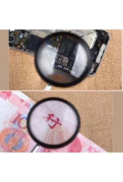 JKY El Tipi Optik Mercekli Büyüteç 30 x 40 mm