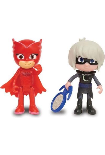 Pj Masks İkili Figür -Baykuş Kız & Luna Girl
