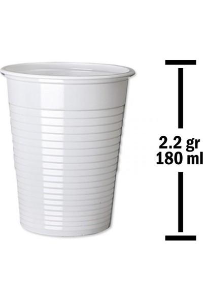 Huhtamaki 180 ml Beyaz Plastik Bardak 2,2 gr 100'lü Paket