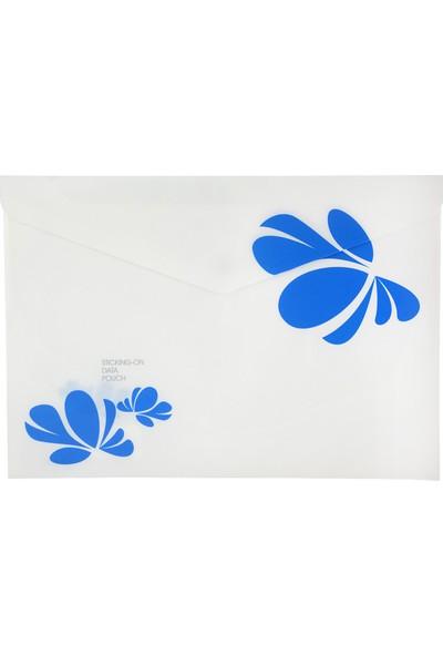 Shuter A4 Çıtçıtlı Dosya Mavi Desen F02