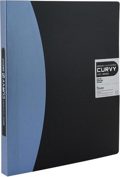 Shuter A4 Sıkıştırmalı Sunum Dosyası Tek Mekanizmalı N126Y Mavi