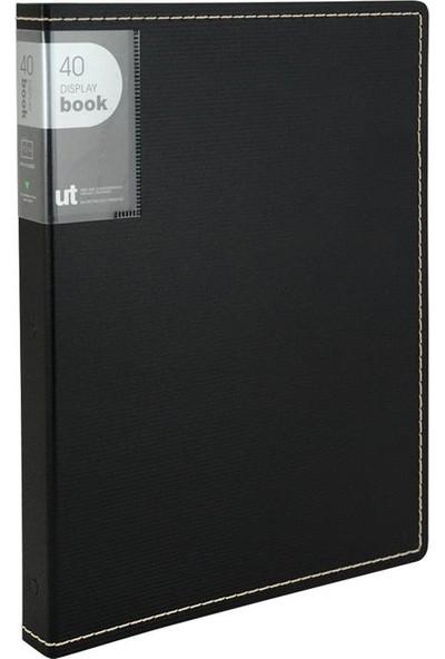 Shuter Sert Pp Kapak A4 Sunum Dosyası 40'lı Siyah