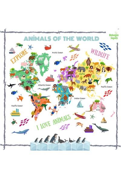Bebeğin Sepeti Animals Of The World Bebek Çocuk Oyun Halısı