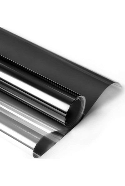 Newdizayn Aynalı Siyah Cam Filmi- Dıştan Ayna Içeriden Siyah 60 cm x 3 Metre