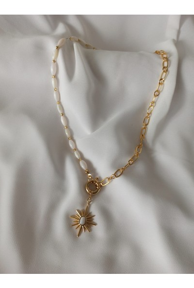 Aysha Accessories Sedef Yıldız Kolye