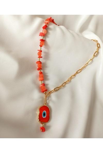 Aysha Accessories Murano Doğaltaş Kolye