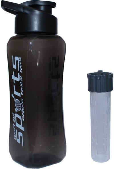 Karia Süzgeçli Detoks Matara Suluk 800 ml Siyah