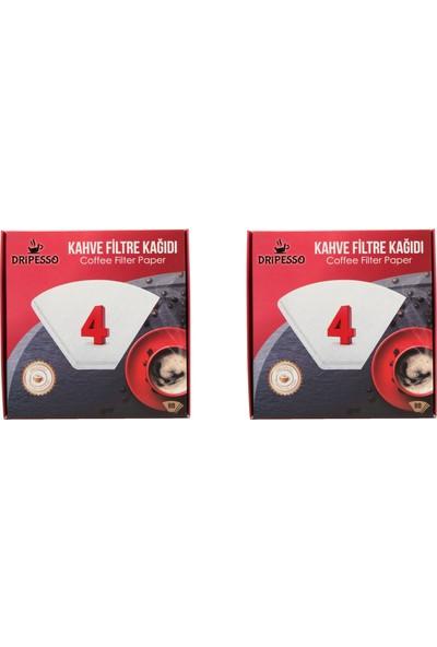 Dripesso Kahve Filtre Kağıdı 1 x 4 80'li x 2 Paket