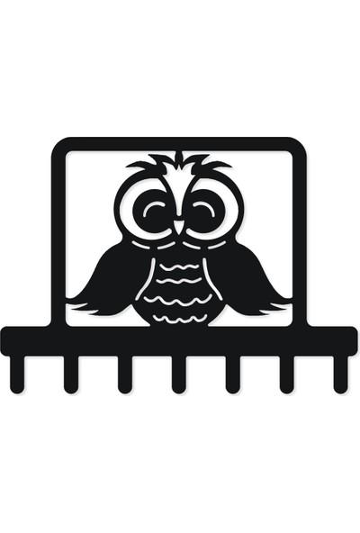 M&c Concept Owl Metal Duvar Anahtarlık Siyah