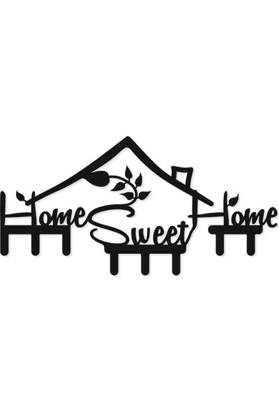 M&c Concept Sweet House Metal Duvar Anahtarlık Siyah