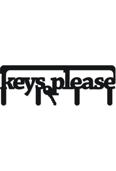 M&c Concept Key Metal Duvar Anahtarlık Siyah