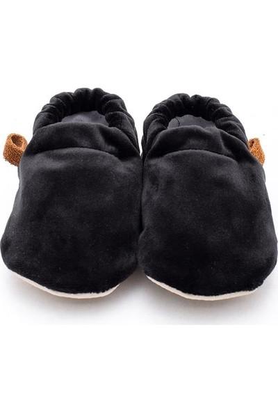 Caluu Baby Siyah Kadife Bebek Patik