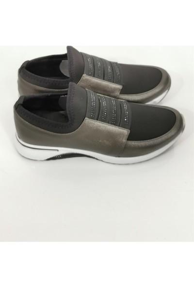 Cudo Kadın Yumuşak Spor Ayakkabı - Platin
