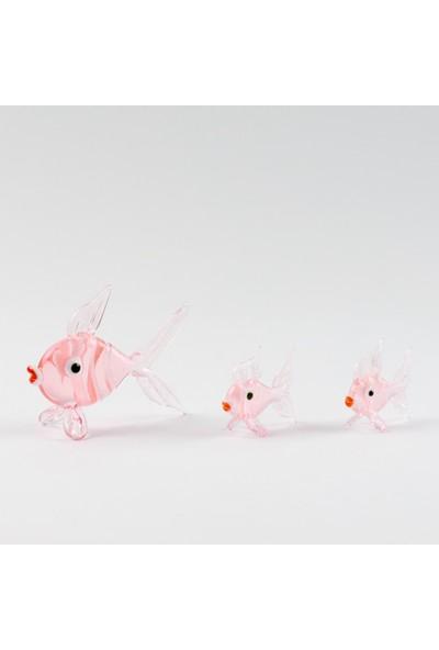 Adamodart Pembe Balık Biblo Set