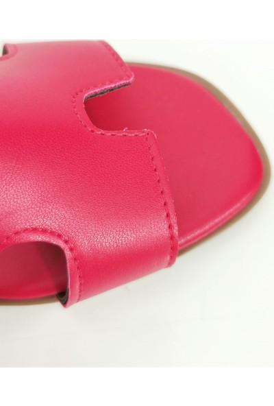 Cudo Kadın Flats Terlik - Kırmızı