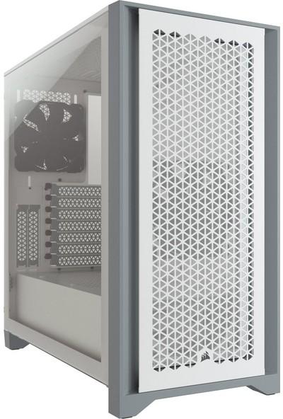 Corsair BKC-1201 4000D Airflow Tempered Glass Mid-Tower Beyaz Bilgisayar Kasa CC-9011201-WW