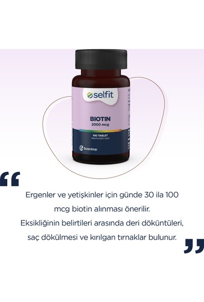 Selfit Biotin 2000 Mcg 100 Tablet