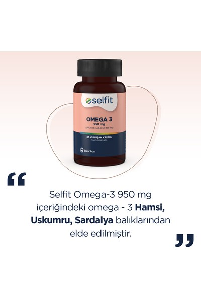 Selfit Omega-3 950 mg 30 Kapsül