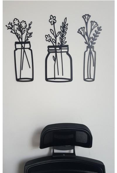 Onca Kır Çiçekleri Dekoratif Ahşap Duvar Süsü Tablo