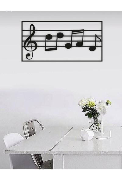 Onca Müzik Notalı Duvar Süsü Tablo