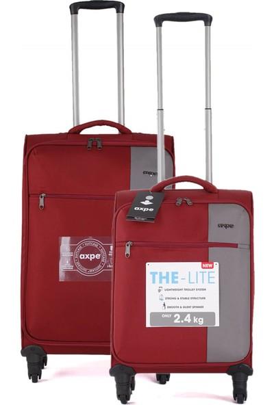 Axpe Bicolor İkili Bavul Seti GKS002 201 Bordo