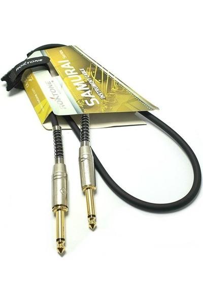 Roxtone RX-K12303 6.3mm Mono Gitar Kablo 3metre