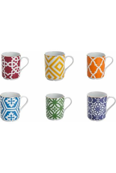 Porland Morocco Karışık Renk Kupa Seti 6 Parça