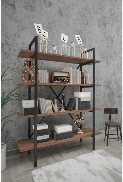 Wood House Sahra Kitaplık Ceviz