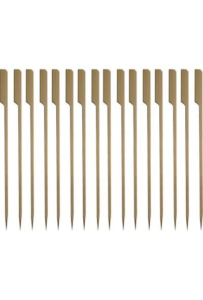 Çelik Pençe Yassı Bambu Çöp Şiş 200 Adet