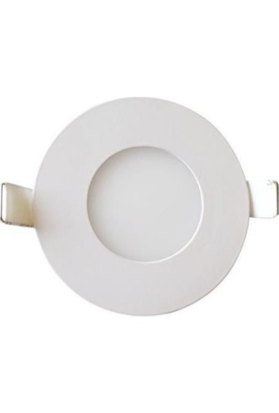 Hrz LED Panel Spot 3 w Beyaz Slim Yuvarlak Sıva Altı (10'lu)