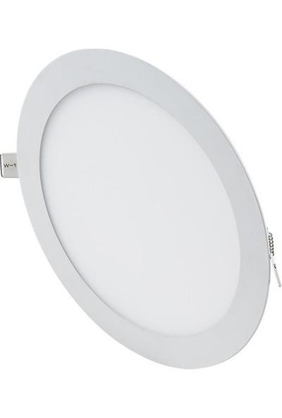 Hrz LED Panel Spot 18 w Günışığı Slim Yuvarlak Sıva Altı (3'lü)