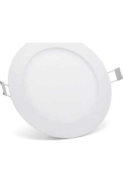 Hrz LED Panel Spot 18 w Beyaz Slim Yuvarlak Sıva Altı (2'li)