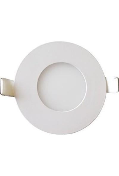 Hrz LED Panel Spot 3 w Beyaz Slim Yuvarlak Sıva Altı (2'li)