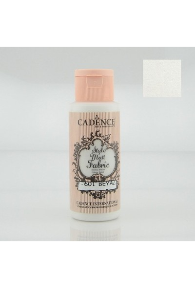 Cadence Kumaş Boyası Mat 59 ml Beyaz