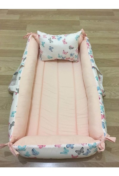 Balamira Beyaz Kelebekli Yatak Yastık
