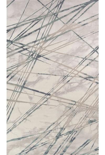 Bahariye Halı Poyraz 97 x 300 9739 Turkuaz Çökme-Klasik Halı