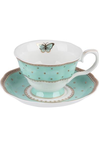 Aryıldız Royal Queen New Bone Mint Yeşili 2'li Kahve Fincan Seti