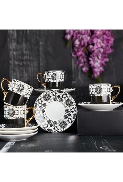 Aryıldız Royal Queen New Bone 6'lı Kahve Fincan Seti
